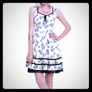 HT floral insect/scorpion dress